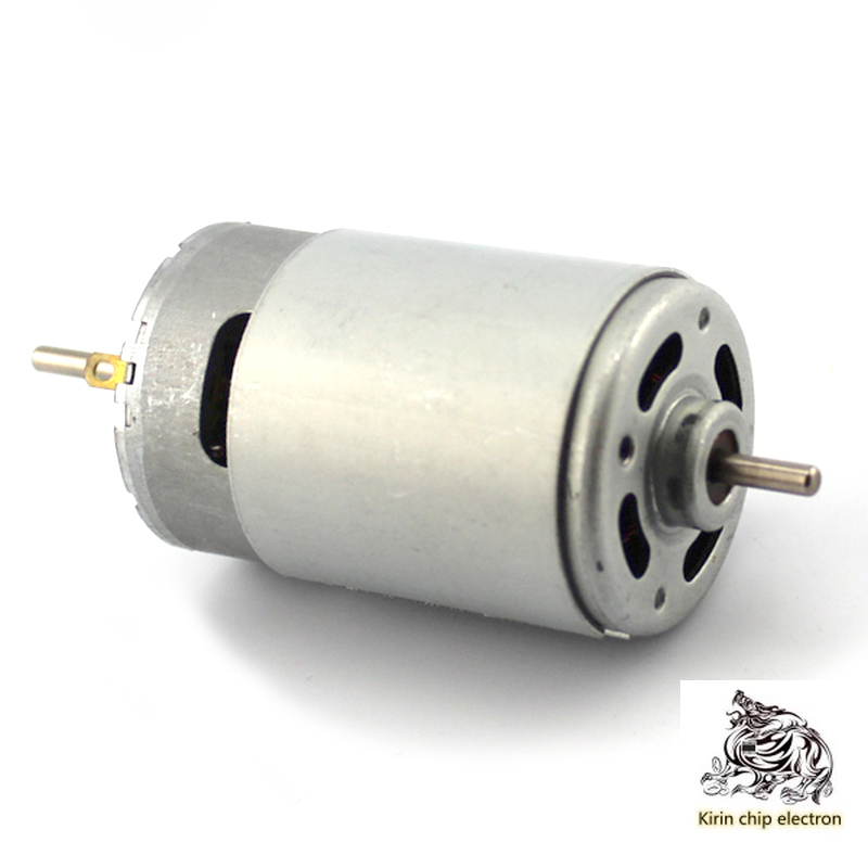 1pcs / Lot Dual Output Shaft 550 Motor 12V Micro DC Motor High Speed 3.175mm Motor DIY Electric Drill Large Torque