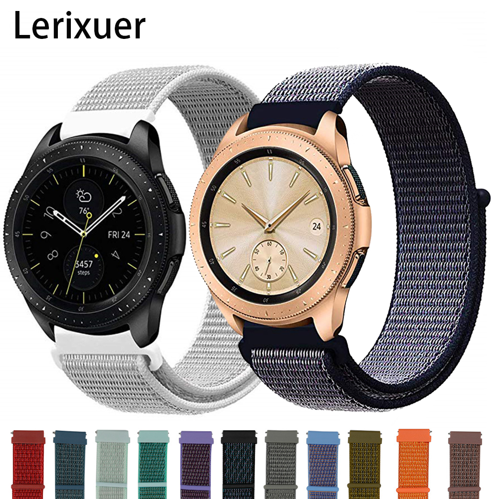 Galaxy Watch Nylon Strap For Samsung Galaxy Watch 46mm 42mm Active 2 Gear S3 Bracelet 22mm 20mm Watchband Huawei Watch Gt 2