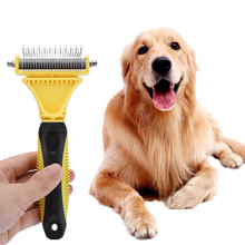 Pet comb stainless steel double side open knot rake comb cat and dog general massage hair removal brush pet open knot comb double side pet fur dog brush comb rake hair brush cat grooming deshedding trimmer tool dog comb pet brush rake 12 23 blades