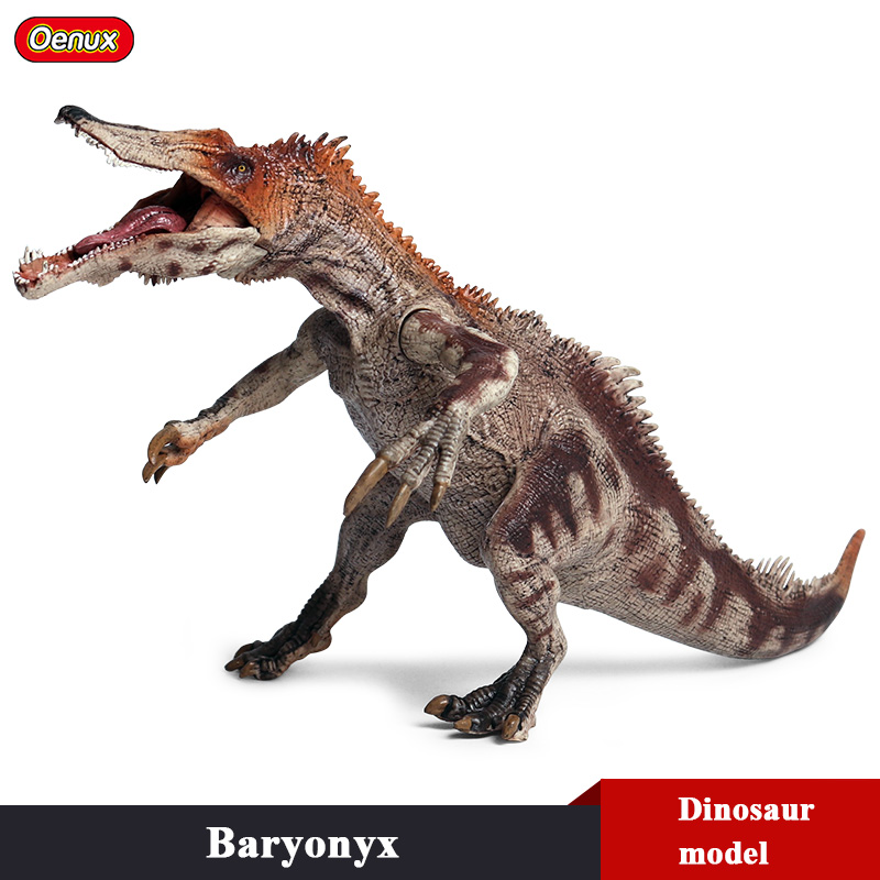 Oenux New Savage Carnivorous Baryonyx Simulation Jurassic Dinosaurs Animals Model Action Figures Collection Toy For Kids Gift