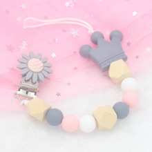 1 Pcs Baby Products Pacifier Clip Silicone Beads Metal Holder Infant Feeding Teething Chew Toys Dummy Clips for Baby Wholesale durex condoms jeans 24 pcs straight walled extra lubricated condoms for men natural latex sex toys products wholesale