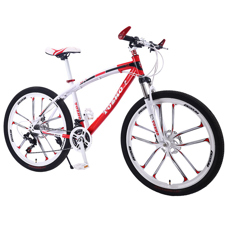 Bicycle Mountain Bike 26 Inch 24 Speed 10 Knife Wheel Double Disc Brakes Shock Road Men And Women Cool