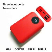 2 порта usb 5 В А внешний аккумулятор diy чехол 3x18650 зарядное