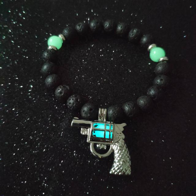 Luminous Fluorescent Skeleton Bracelet Punk Style Bead Chain Glowing In The Dark Jewelry Fashion Handmade Bracelet For Men Gifts