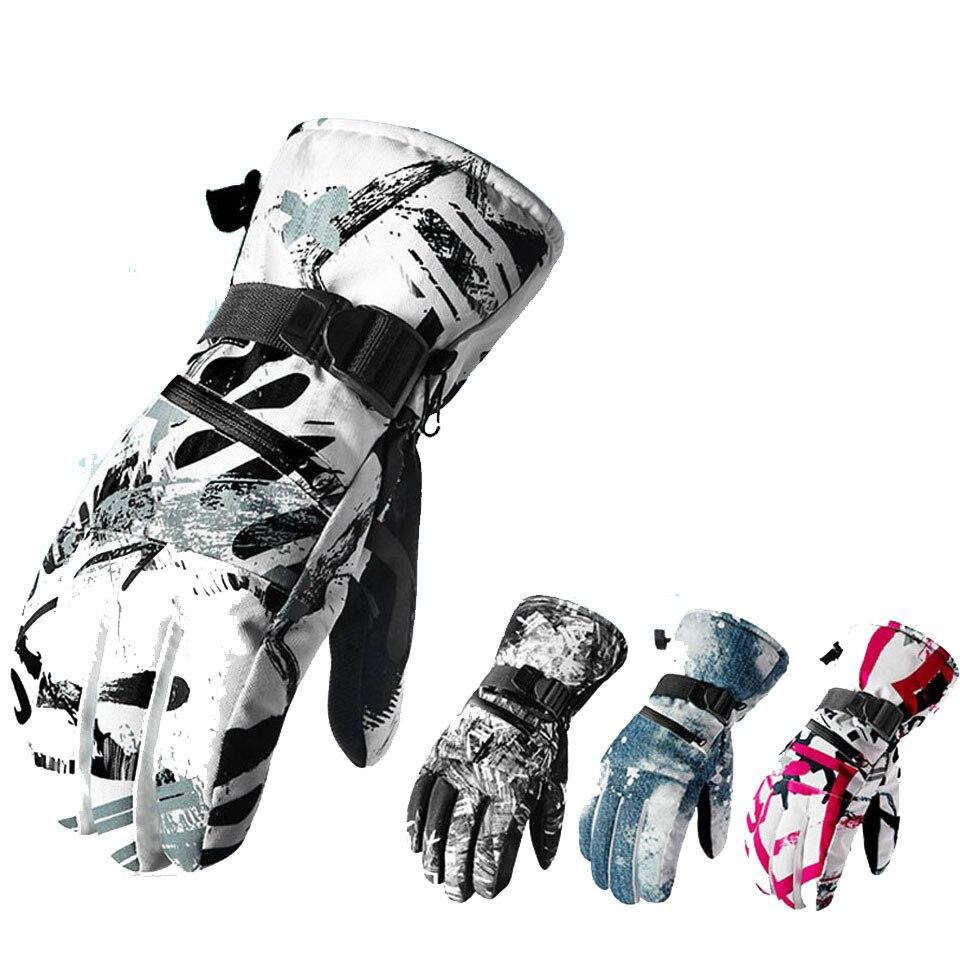 Зимние мужские лыжные перчатки высокого качества каракули женские теплые камуфляжные хлопковые утепленные мужские перчатки с принтом вод...