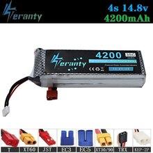 цена на 100% Capacity 4S 14.8v 4200mAh 35C LiPo Battery For RC Drone RC Cars RC Robots RC Boats toy 14.8v Rechargeable Lipo Battery 1pcs