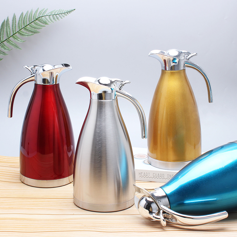 1.5L&2l Double Wall 304 Stainless Steel Vacuum Flask Hot Water Insulation Pot coffee Kettle Coffee Thermal Thermos Bottles