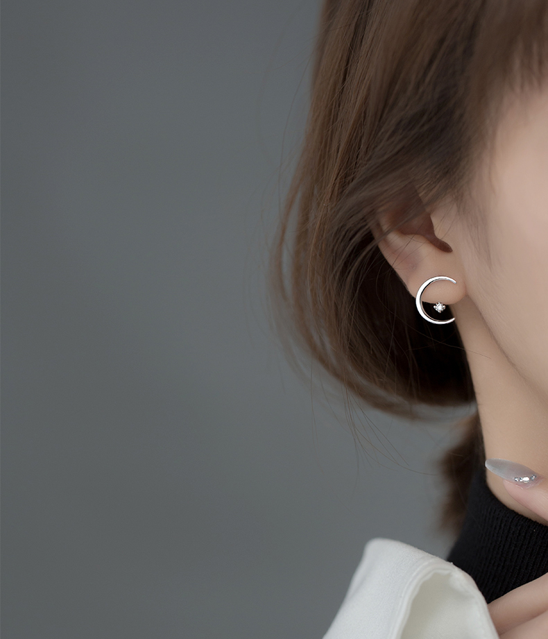 Ginin 925 стерлингового серебра в Корейском стиле Стиль простые