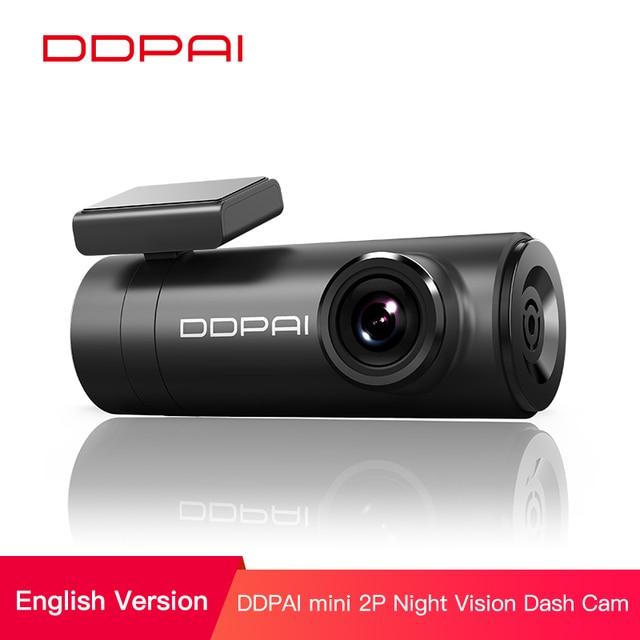 DDPai Mini2s Car DVR Distortionless 2K Ultra HD 1440P Car Dash Camera  Wide Dynamic Range 140° Wide Angle Lens  G Sensor  WiFi