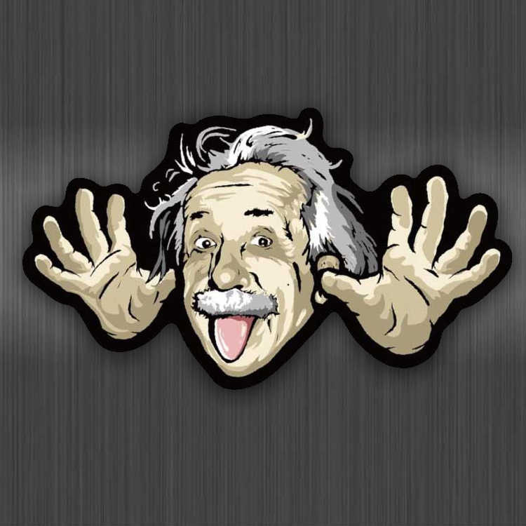 Grappig Einstein Stickers Waterdicht Voor Auto 'S Cool Laptop Bagage Skateboard Graffiti Cartoon Notebook A0146 Stickers