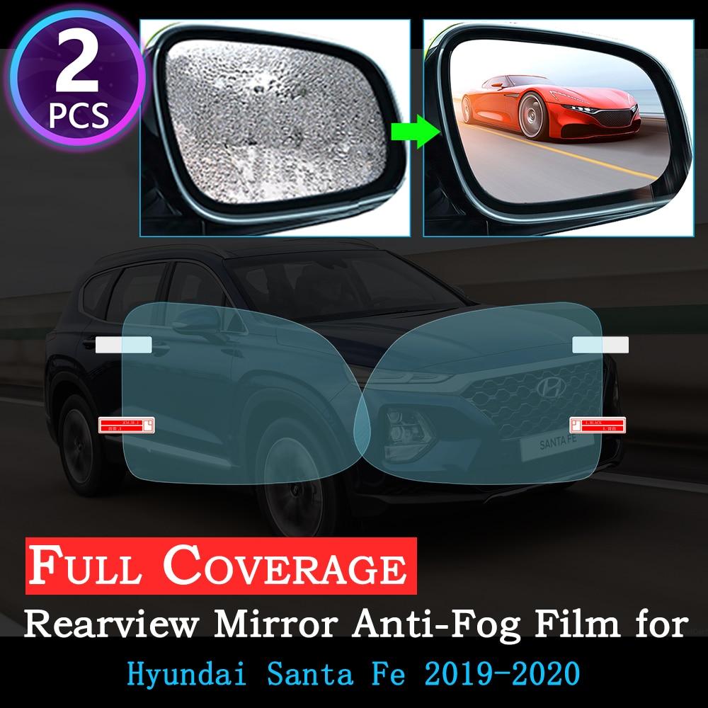 Full Cover Anti Fog Film For Hyundai Santa Fe CM DM TM Ix45 2007~ 2019 Special Rearview Mirror Rainproof Anti-Fog Stickers 2018