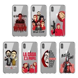 Spanish TV series La casa de papel Soft Silicone TPU Phone Case Cover For iPhone 11 Pro MAX 5s se 6 6s Plus 7 8 Plus X XR XS MAX(China)