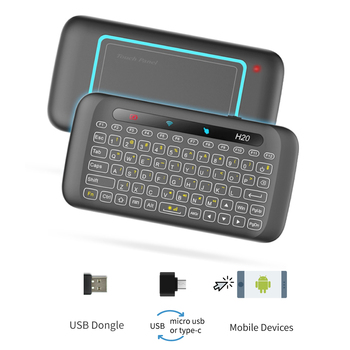 Air Mouse with Keyboard Touchpad, Universal Flying Remote Control Rechargeable for Windows PC Android TV Box Mobile Phone 1
