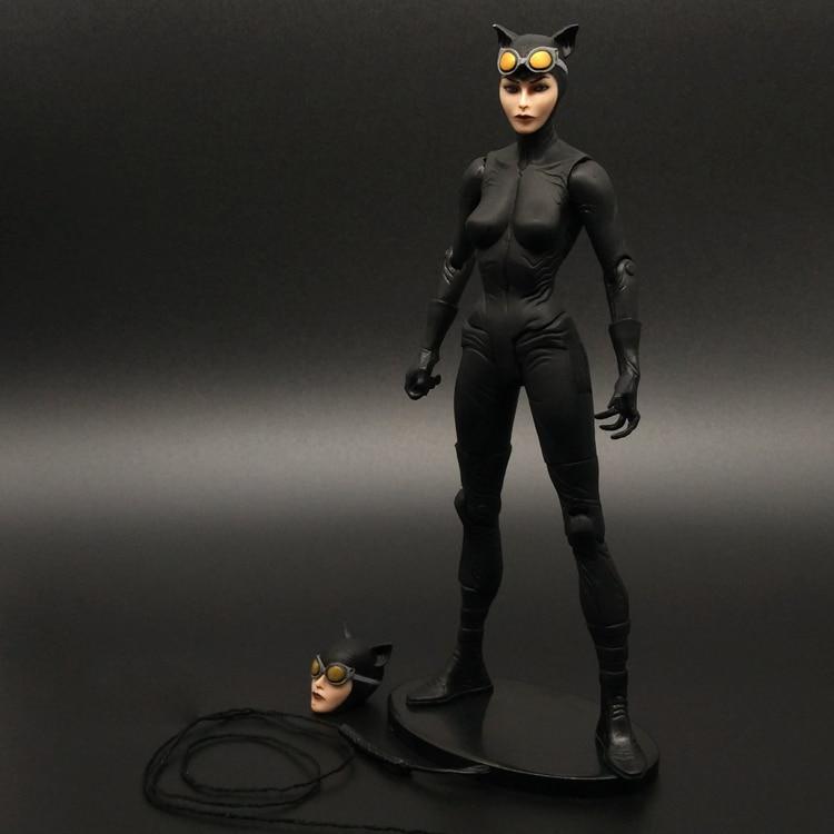 Batman VS Superman Black Catwoman Wonder Woman Justice League Movable Dolls Action Figure Model Toy DC