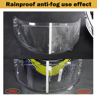 Baifeng Rainproof Anti-Fog Helmet Patch Motorcycle Helmet Patch Film Protective Film for Cycling Safety Helmet