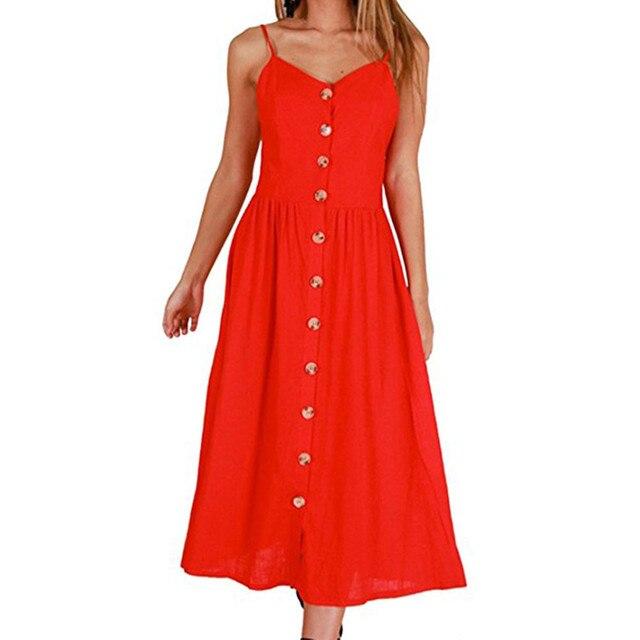 Women long dress sexy Vintage plus size fashion Dress For Women summer Casual dress Elegant Sleeveless A Line Dress loose Female 2