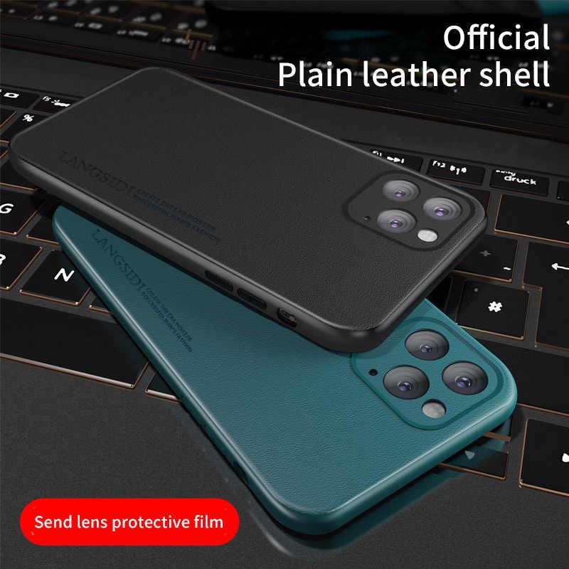 Orijinal deri cep telefonu kılıfı için Apple iphone 11 11 Pro Max 11pro max lüks Marvel 360 tam koruyucu arka kapak kabuk
