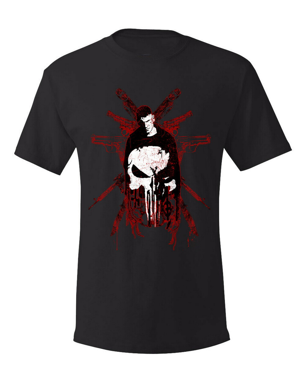The Punisher, Comic, Series, Movies, Artistic Design, Graphic Tee, Men T-Shirt 6 Streetwear Tee Shirt image