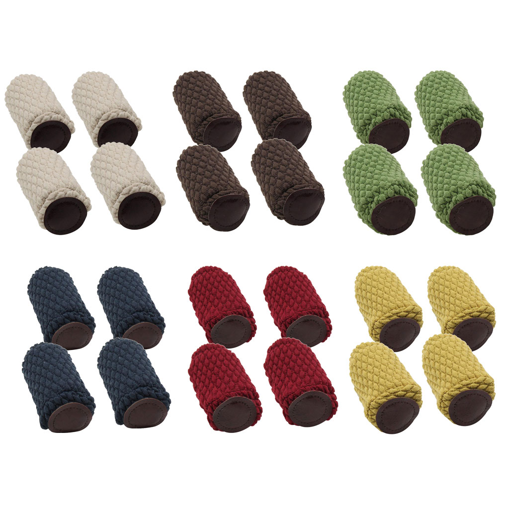 4PCS Chair Leg Socks Furniture Feet Cover, Floor Protectors For Avoid Scratches & Reduce Noise