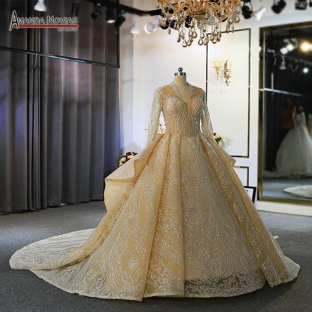 Роскошные свадебные платья с длинными рукавами