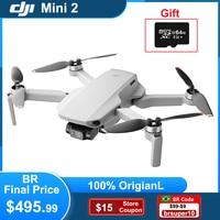 DJI Mini Drone 2-4K Cámara RC helicóptero Quadcopter GPS 4x Zoom 249g ultraligero 10km transmisión QuickShots