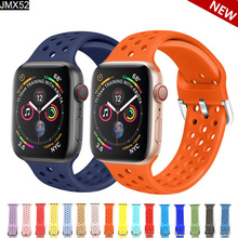 Sport Silicone for Apple Watch Bands 44mm 40mm (iwatch 5) Apple Watch Strap 38mm 42mm  for Apple Series Iwatch Band 38mm apple watch s2 sport 38mm gold al blue mq132ru a