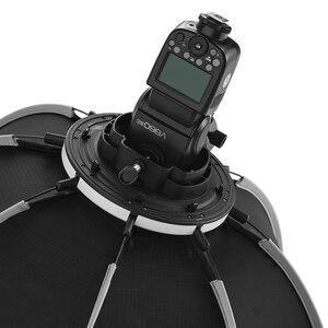 Image 4 - Triopo 55Cm 65Cm 90Cm 120Cm Speedlite Di Động Bát Giác Dù Softbox + Tổ Ong Lưới Ngoài Trời Flash Mềm Mại hộp Cho Canon Godox