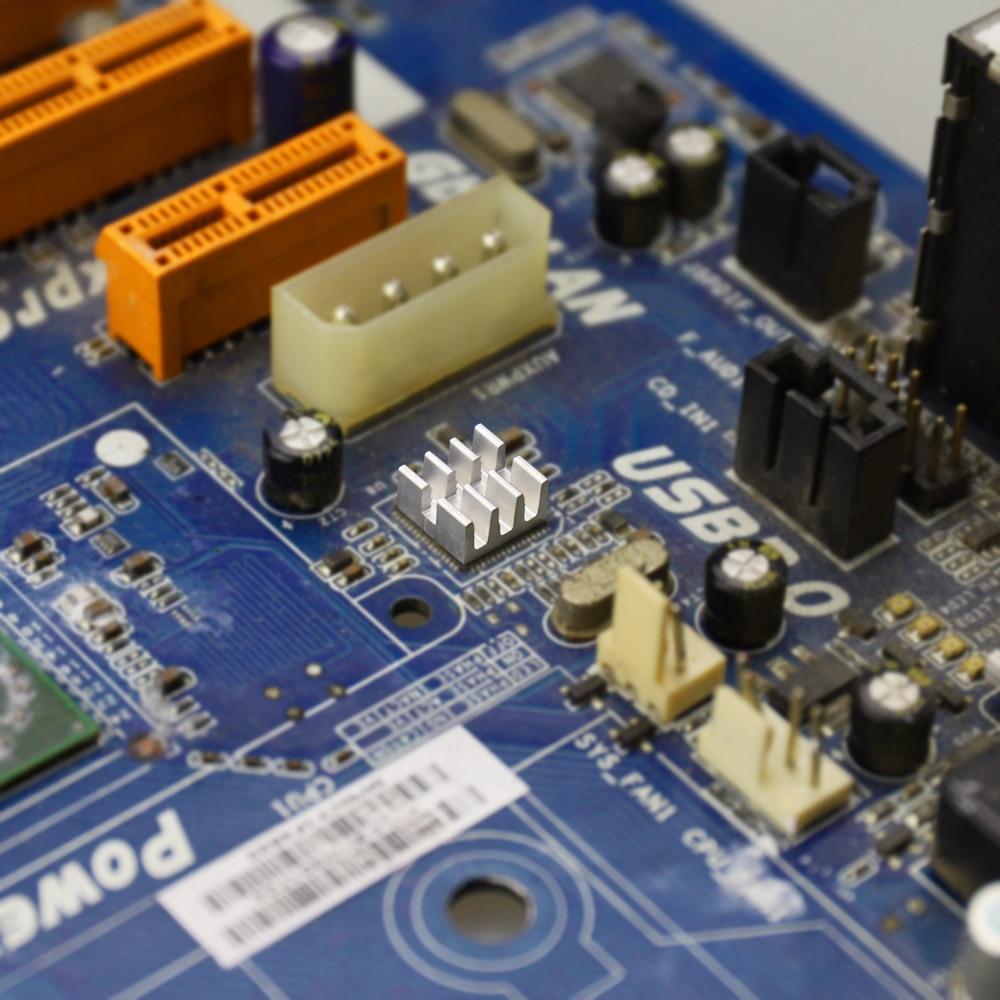 40PCS MOS Mini IC Chipset Cooling Cooler Heat Sink Aluminum Heatsinks