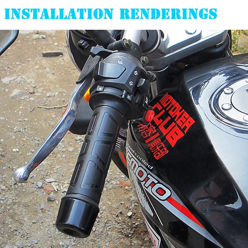 Black vorcool Electric Heated Grips Pair for Motorcycle 22/mm Handlebar Handle