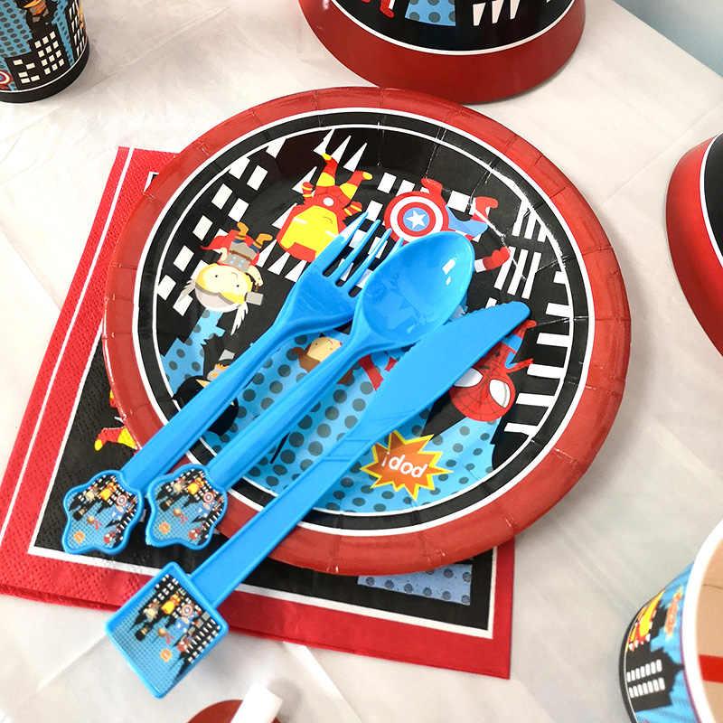 خارقة سوبرمان حزب لوازم الطاولة/المائدة قابل للتصرف لوحة كوب سماط عيد ميلاد الاطفال حزب استحمام الطفل زينة لوازم