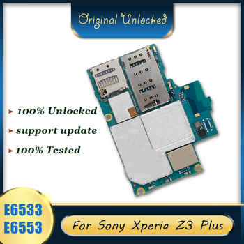 Original para Sony Xperia Z3 más E6533 E6553 placa base tablero lógica desbloqueado dual sim para Sony Xperia Z3 más E6533 E6553