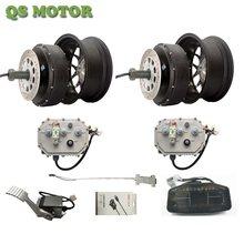 Dual 5000W 72V Elektrische Auto Hub Motor Conversie Kit Met Regeneratief Remmen