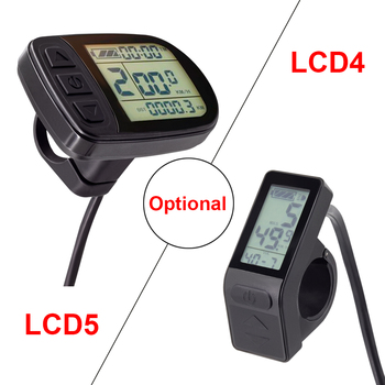 Kunteng Electric Bike Display Waterproof or SM Connector KT LCD5 LCD4 Display Ebike Parts for E Bike KT controller 36V 48V
