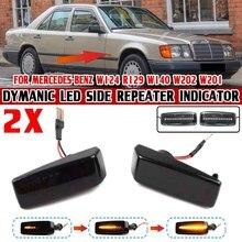 2X LED Côté Dynamique Fabricant Répéteur Lumières Clignotant pour Mercedes Benz C E S SL CLASSE W201 190 W202 W124 W140 R129