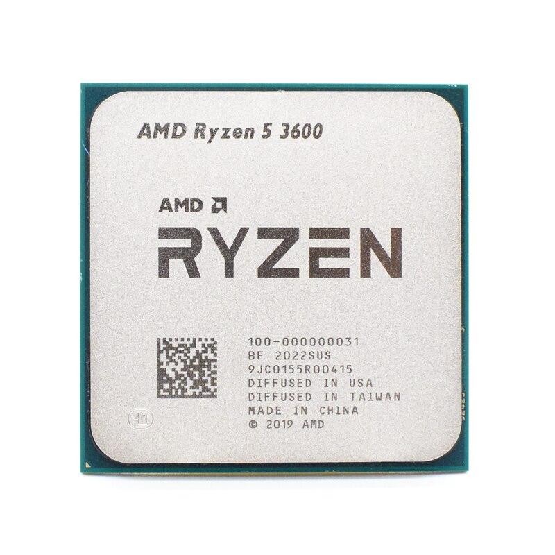 Процессор AMD Ryzen 5 R5 3600, 3,6 ГГц, шестиядерный, двенадцать потоков, 7NM, 65 Вт, L3 = 32M, разъем AM4, отдельные части ЦП без вентилятора
