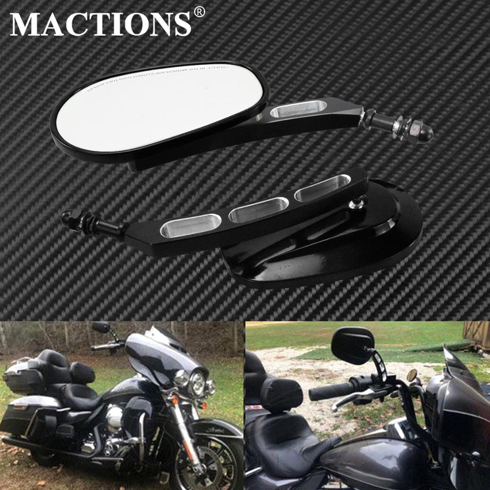 Motorcycle Black Round Rear View Mirrors for Harley Sportster XL1200 883 Custom