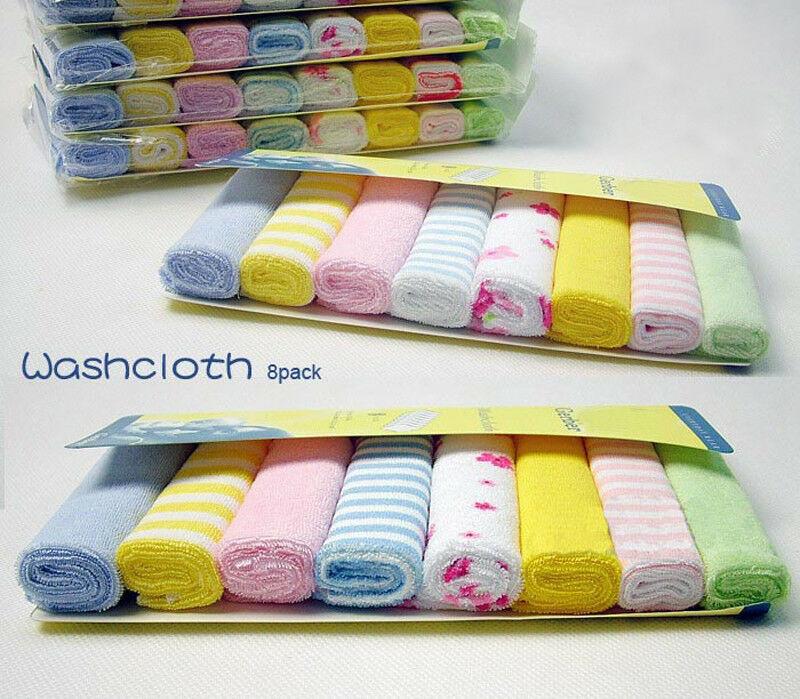 8Pcs Baby Infant Newborn Bath Towel Washcloth Bathing Feeding Wipe Cloth Soft