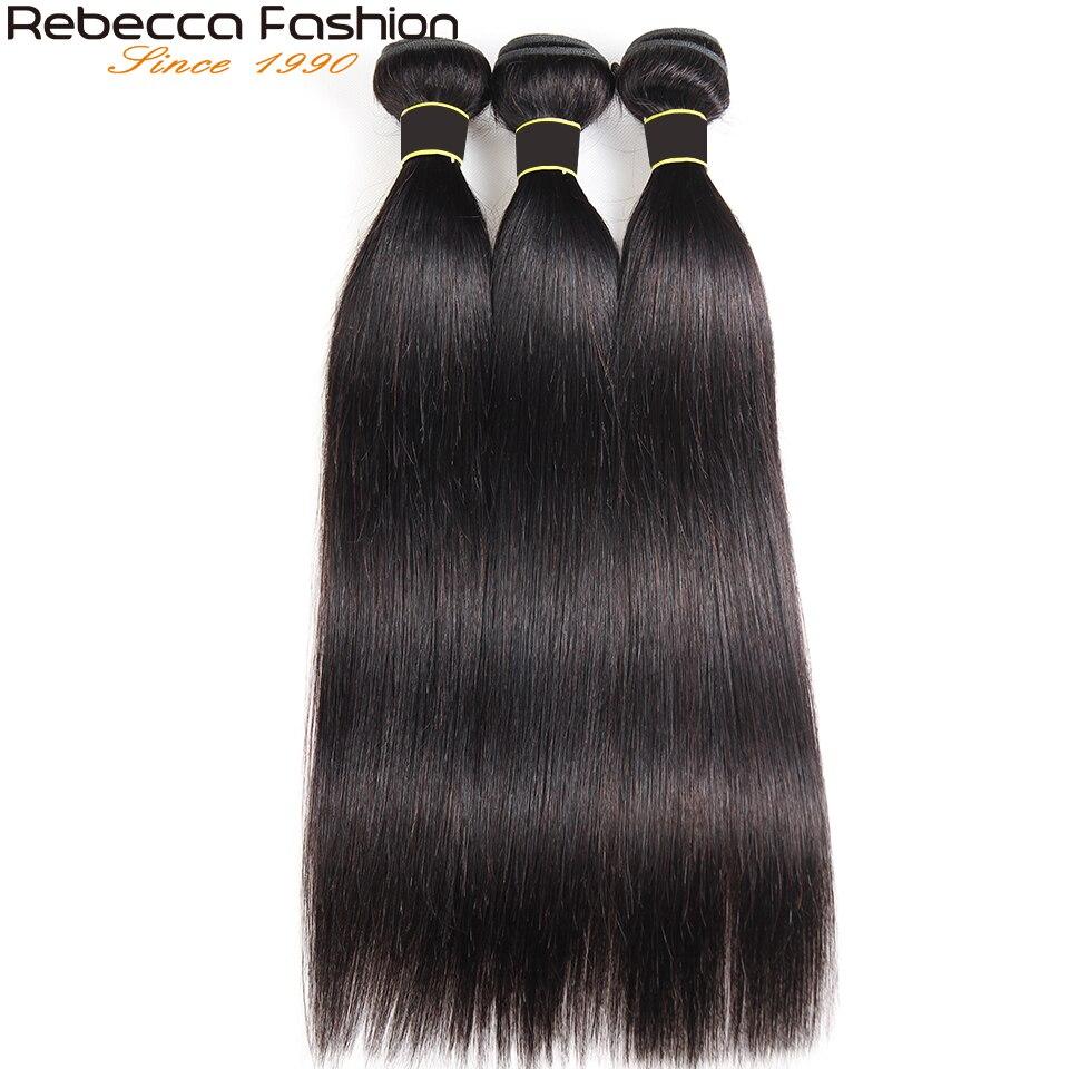 Rebecca-lot péruvien 100% naturel lisse Remy Hair, Extensions de cheveux, tailles 30 32 34 36 pouces