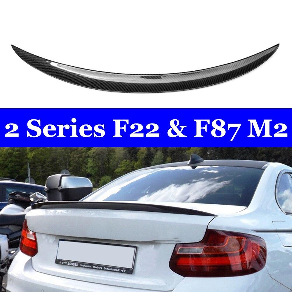 Tronco traseiro asa spoiler de fibra de carbono para bmw série 2 f22 coupe f87 m2 220i 228i 230i 230i xdrive 235i 2014-in