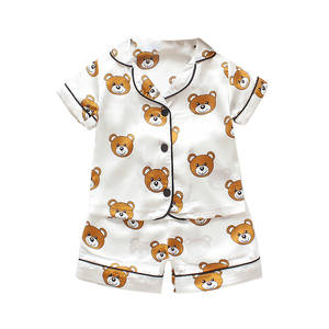 Pajamas Sleepwear Shorts Baby-Boys-Girls Kids Children Cartoon Blouse Outfits-Set Tops