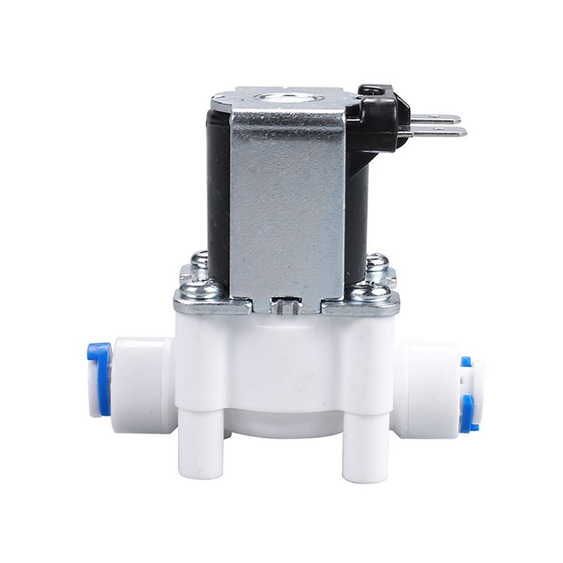Plastic Solenoid Valve 12V 24V 220V 1 4 quot Hose Pipe Quick Connection Water Purifier Drinking Fountain Pressure Controller Switch in Valve from Home Improvement