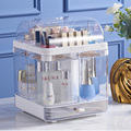 Rotating Cosmetic Storage Box Dust-Proof Skin Care Product Rack Desktop Cosmetics Organizer Lipstick Jewelry Storage Box