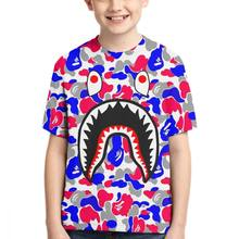 Bape Shark Short Sleeve T-Shirt Men's Basic Teen-agers XS