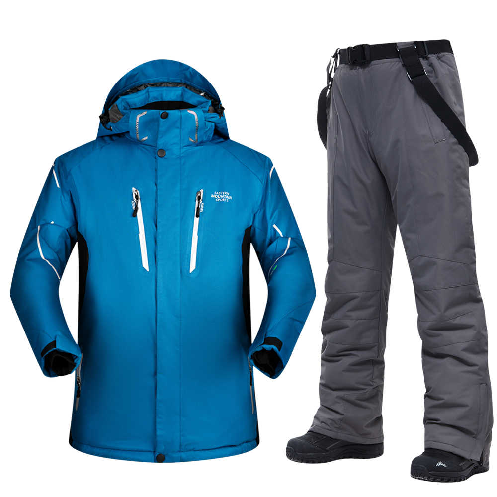 Ski Anzug Männer Winter 2019 Wasserdicht Winddicht Verdicken Warme Schnee Kleidung Männer Ski Sets Jacke Skifahren Und Snowboarden Anzüge Marken