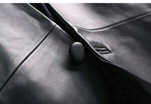 Image 5 - OFTBUY 2020 office ladies blazer feminino elegant blazer women blazers and jackets real sheepskin leather jacket black coat