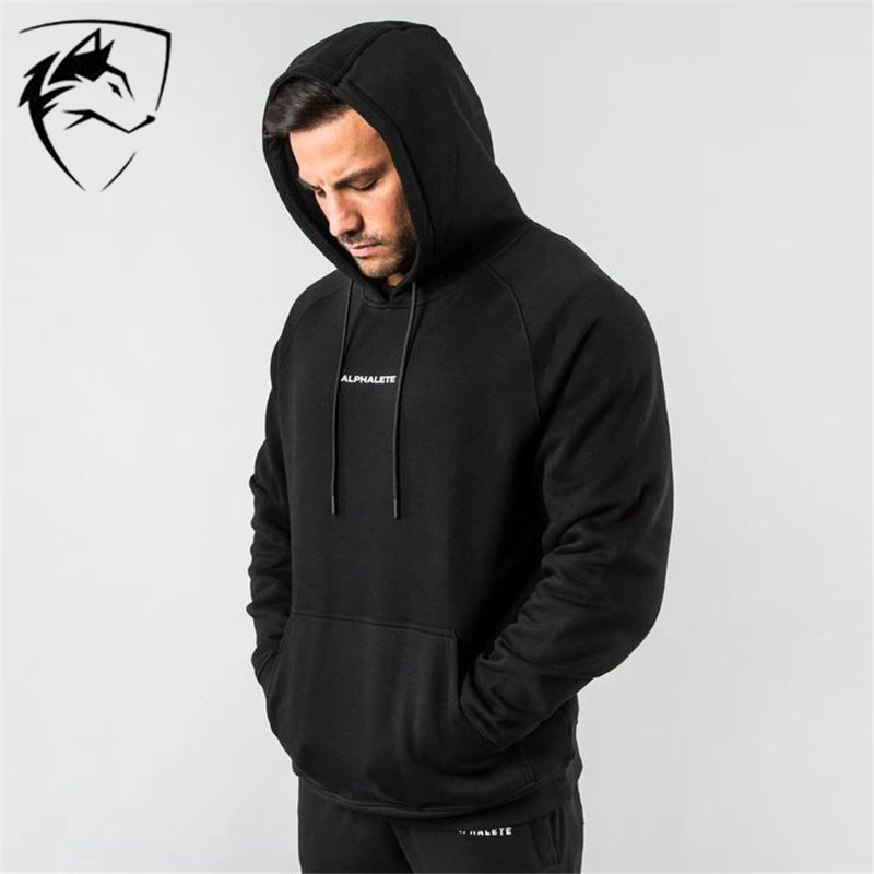 ALPHALETE Brand New Men Cotton Sweatshirt Gyms Fitness Bodybuilding Workout Hoodies Casual Fashion Jacket Sportswear  Clothing