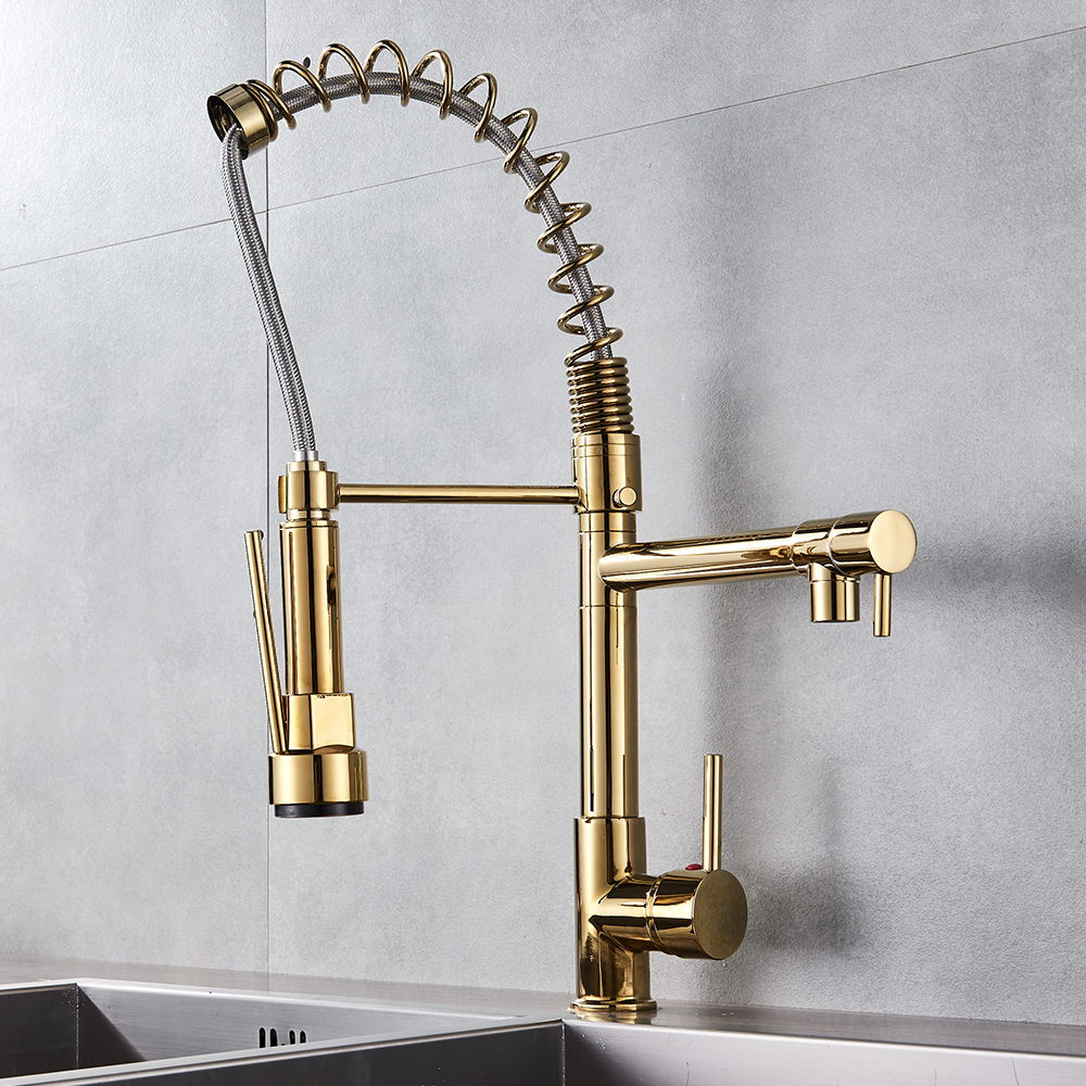 Hb1515cebc71c4b569acd2c11298c64ffr Uythner Black Brass Kitchen Faucet Vessel Sink Mixer Tap Spring Dual Swivel Spouts Hot and Cold Water Mixer Tap Bathroom Faucets