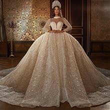 Женское свадебное платье it's yiiya белое кружевное с длинными