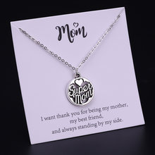 Stainless Steel Mom Daughter Grandma Grandpa Dad Sister Brother Son Aunt Uncle Family Tree Necklaces Mother's Fathers Day Gift(China)