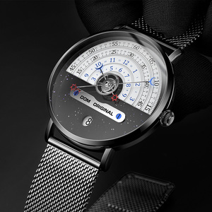 Image 3 - DOM Creative Fashion Quartz Mens Watch Japanese Movement Waterproof Swimming Calendar Nice Mesh Strap Reloj de hombre Relógio